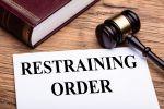 restraining order document